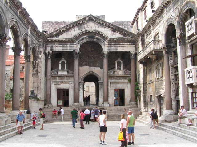The immense palace of Diocletian, in Split.