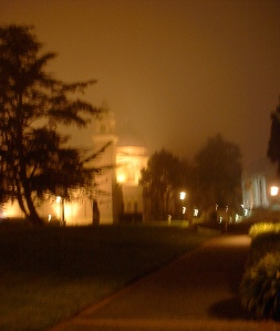 University of San Francisco at night.