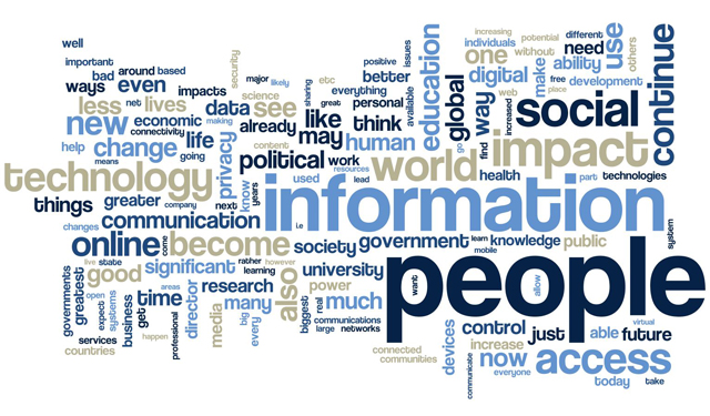 Word cloud from future of internet report.