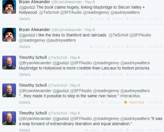 Twitter book club discusses Muybridge