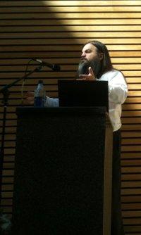 Bryan speaking to Northern Voice, 2010