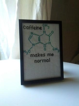 caffeine needlepoint