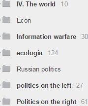 Some of my Digg Reader menu