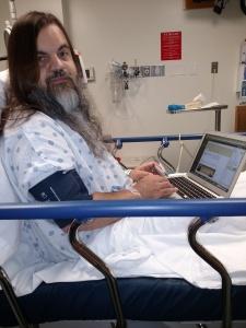 Bryan working in the emergency room