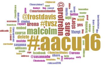 AAC&U tag cloud by Julie Kane