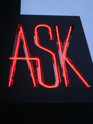 """Ask"", photo by Anne Thorniley"