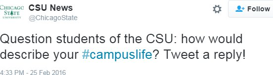sad CSU tweet