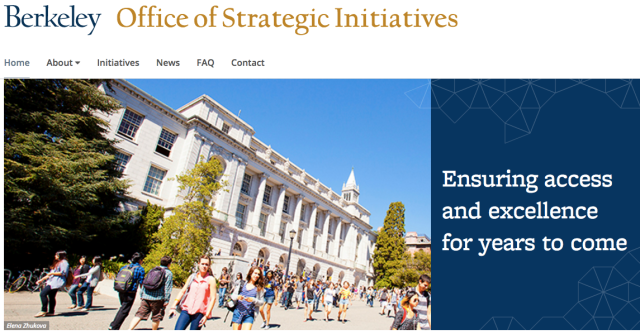 Berkeley's new Office of Strategic Initiatives
