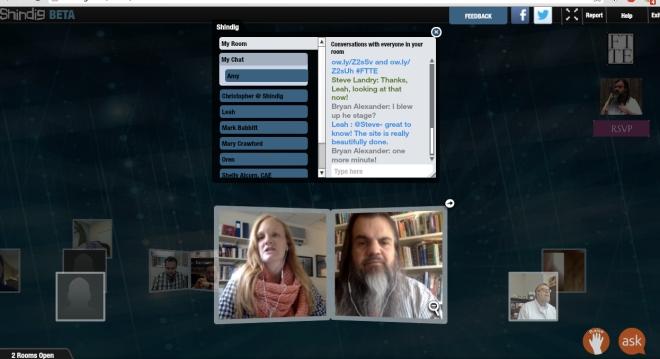 Forum screen grab: participant and myself