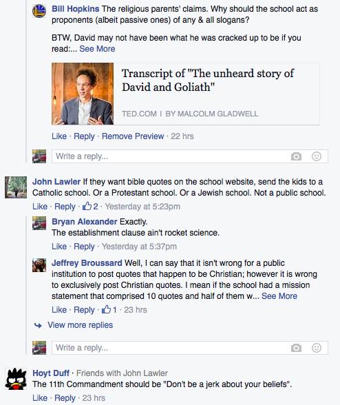 Facebook religion discussion