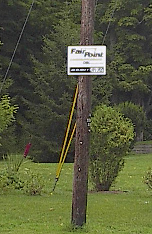 Fairpoint first decided to try broadband here in 2008