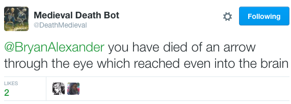 Medieval death bot kills me