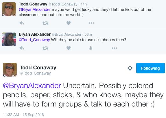Todd Conaway tweets