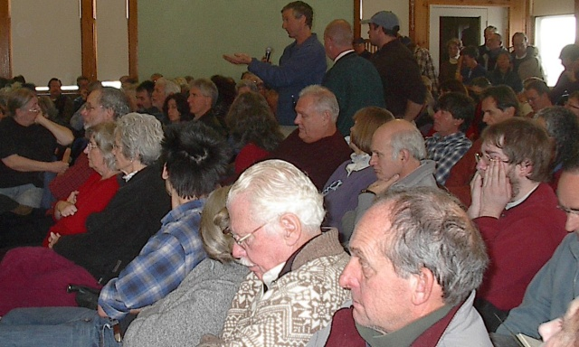 Town meeting in Lincoln, Vermont, 2008