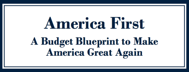 Trump budget proposal header