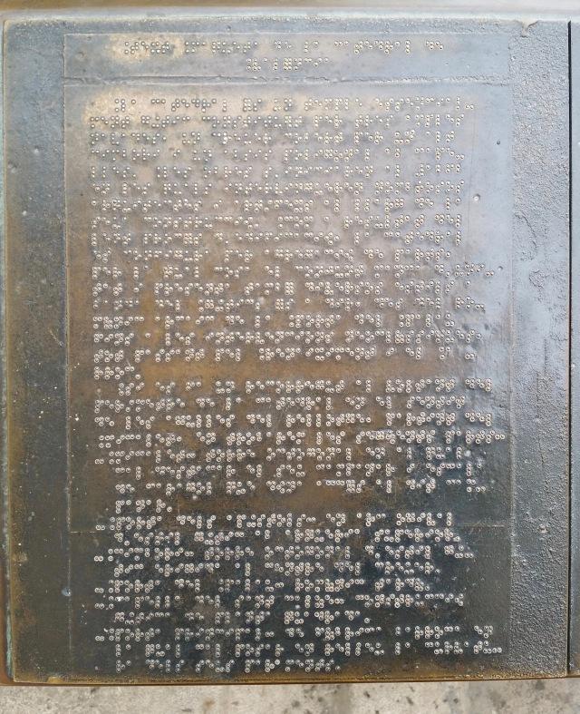 Valencia braille sign