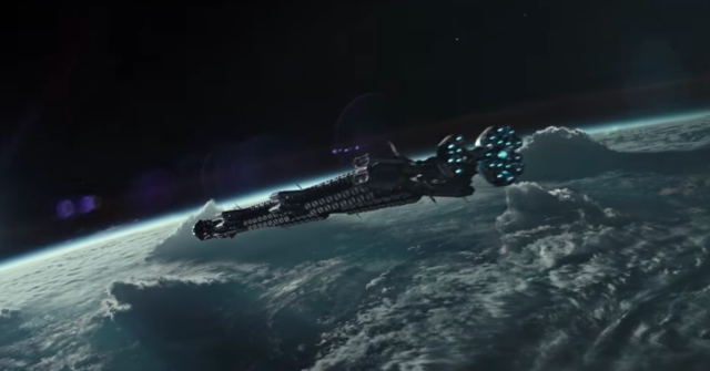 Alien Covenant ship in orbit