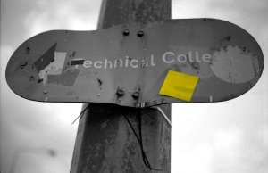 Technical college sign by joybot